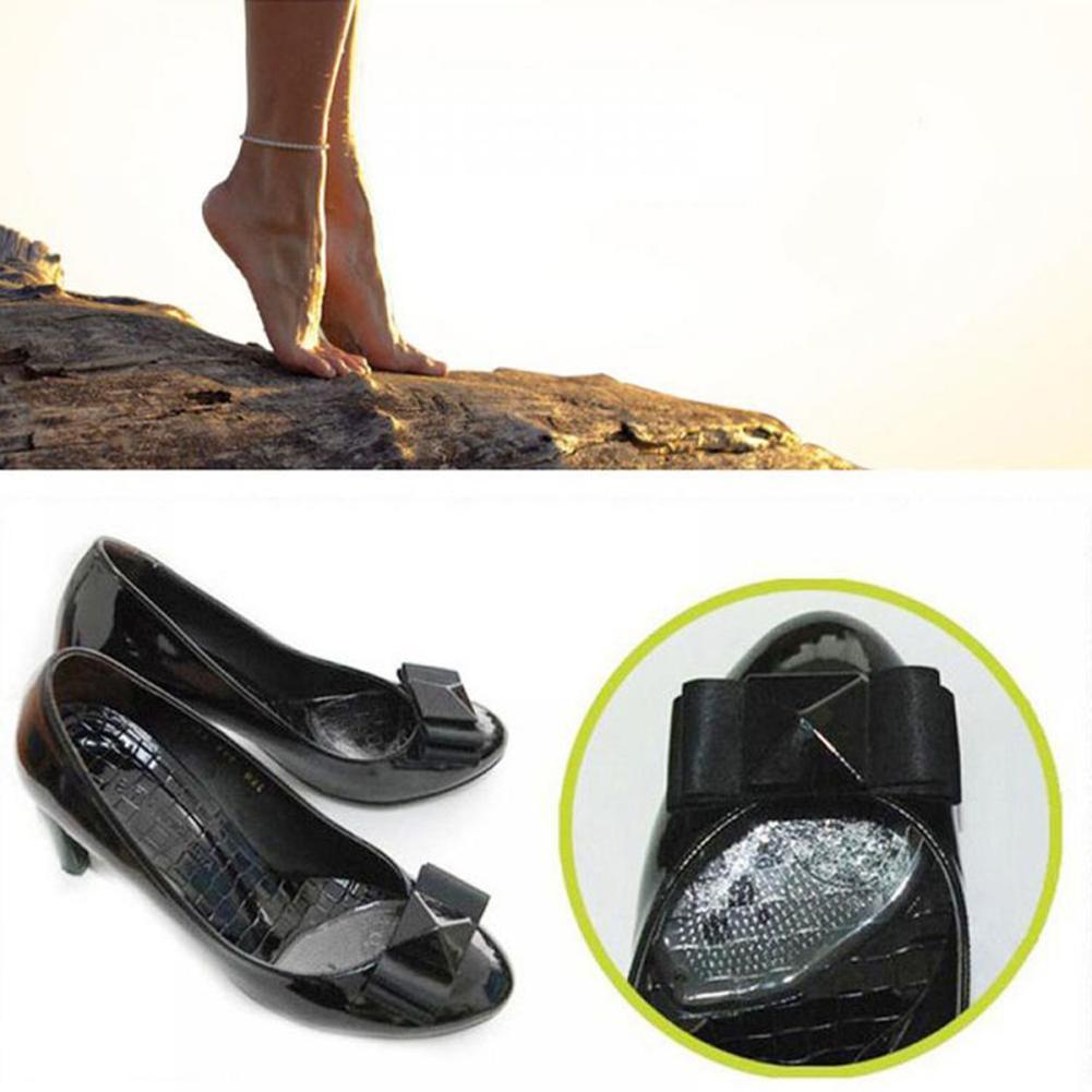 2 pçs transparente feminino macio silicone gel coxim palmilhas metatarsal suporte inserção almofada anti-deslizamento dor alívio sapato inserções