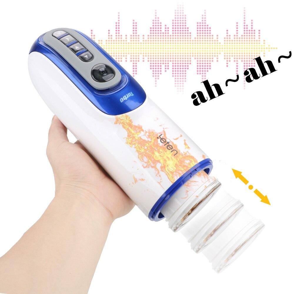 Blowjob Sucking Masturbation Cup  Sex Toys for Men Sex Machine Intelligent Heating Voice  Automatic Telescopic Male Masturbator