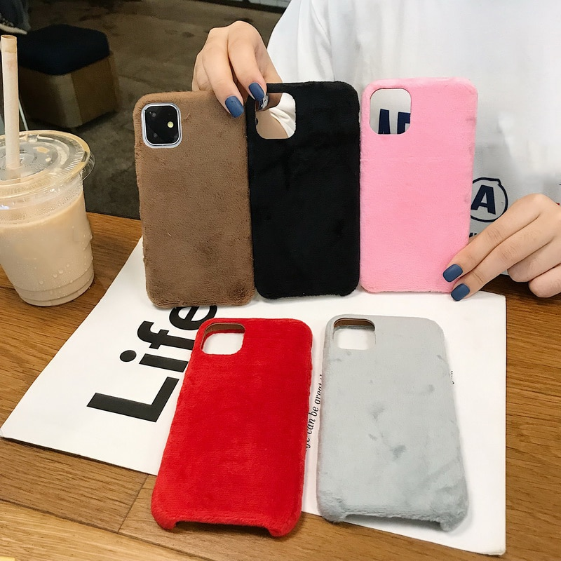 Soomth Plush Fur Silicone Cases for Huawei P40 P30 Pro Mate 20 Lite Villus Coque for Mate 30 P10 Pro
