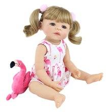 55cm 전체 실리콘 reborn 아기 인형 장난감 소녀 금발 공주 유아 살아있는 아기 현실적인 클래식 boneca 놀이 집 장난감