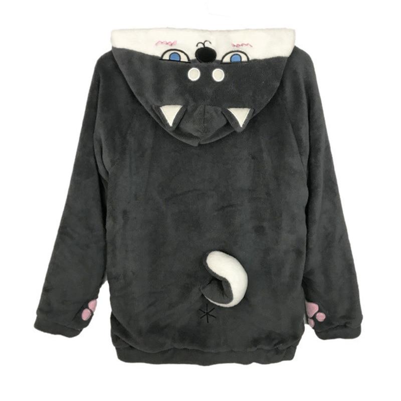 Nueva Sudadera con capucha de dibujos animados Kawaii para mujer, de manga larga Sudadera con capucha, chaquetas bonitas, abrigo de Navidad, abrigo de lana Cosplay para niña
