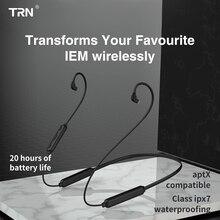 TRN BT3S Aptx Bluetooth kablosu 0.75mm 0.78mm MMCX IE80 A2DC Bluetooth kulaklık kablosu kulaklık