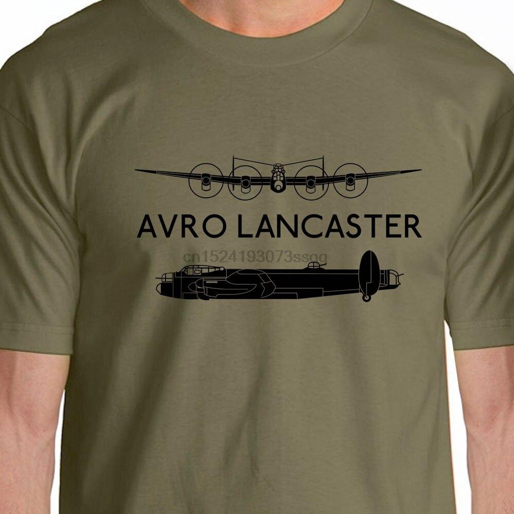 Camiseta estilo verano 2019 gran oferta silueta aeroclásica WW2 Avro Lancaster Aircraft