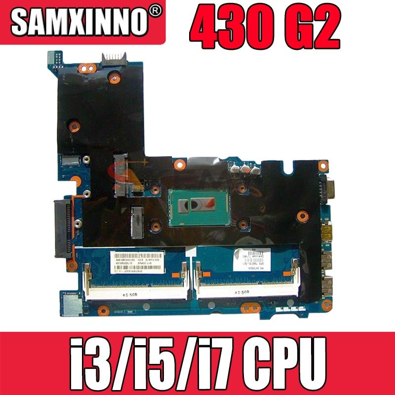 ل HP 430 G2 اللوحة الرئيسية ProBook 430 G2 اللوحة الأم للكمبيوتر المحمول ZPM30 LA-B171P مع i3/i5/i7 CPU 100% اختبارها بالكامل