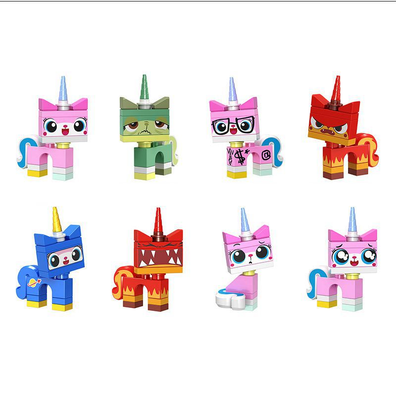 Building Blocks Cartoon DIY Handmade Interesting Cat Model Accessories Movie Series Assembling Educational Toys