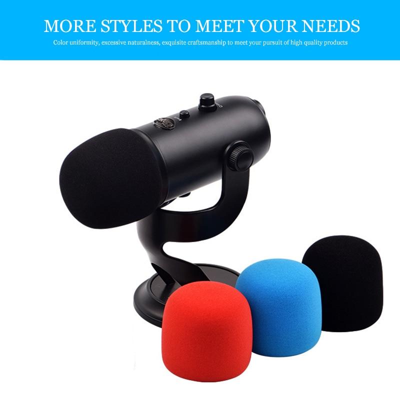 New 1PC Dustproof Windproof Microphone Foam Cover Headset Foam Sponge Windscreen Mic Cover Black Soft For Blue Yeti/ Yeti Pro