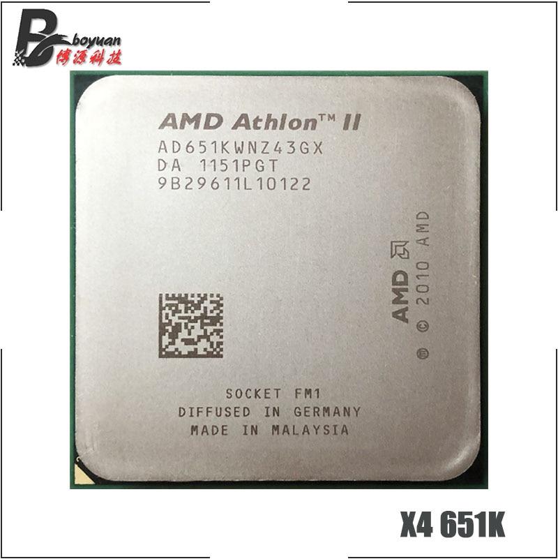AMD Athlon II X4 651X4 651X X4 651K 3.0 GHz Quad-Core CPU Processor AD651KWNZ43GX/ AD651XWNZ43GX Socket FM1