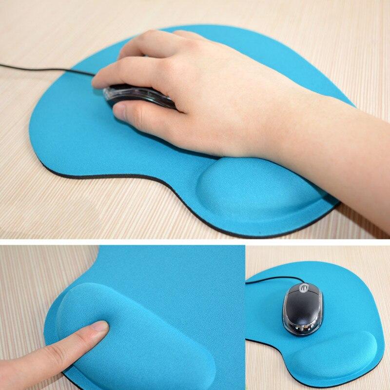 Alfombrilla de ratón de espuma con memoria blanda alfombrilla ergonómica antideslizante muñequera de Gel alfombrilla de ratón para juegos