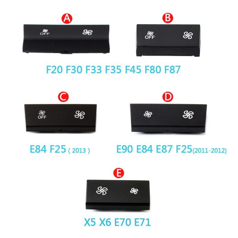 Tablero de aire acondicionado ventilador viento botón de volumen capas para BMW 1 2 3 4 X1 X3 X5 X6 serie F20 F30 F35 F80 F25 F26 E70 E84 E90