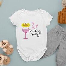 Newborn Jumpsuit Sleeping Beauty Cartoon Printing Outdoor Fashion Disney Wine Glass Princess Baby Ro