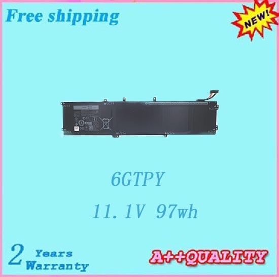 Горячая продажа 6GTPY Аккумулятор для ноутбука Dell Precision 5510 XPS 15 9550 9560 батареи Бесплатная доставка