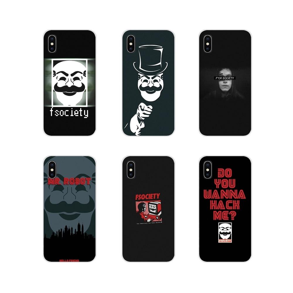 Mr Robot Fsociedade Para Huawei G7 G8 P7 P8 P9 P10 P20 P30 Lite Mini Pro P Smart Plus 2017 2018 2019 Acessórios Phone Cases Covers