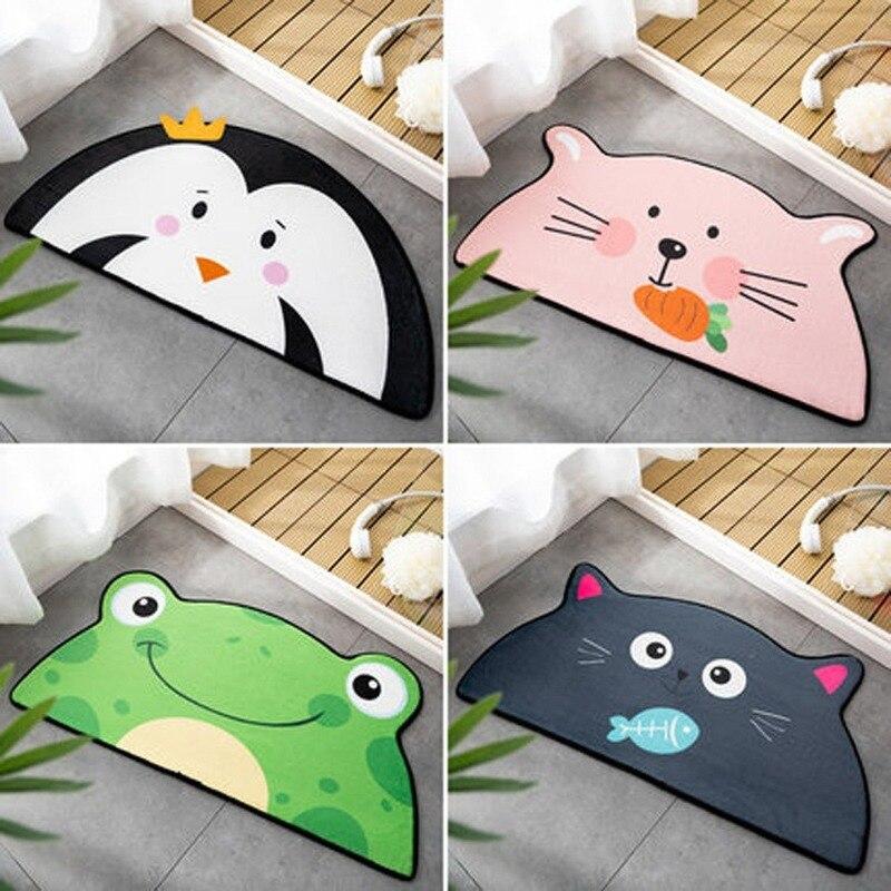 Alfombrilla absorbente de oso gato rana para baño, alfombra creativa para sala de estar o dormitorio, alfombra antideslizante de dibujos animados, Felpudo de entrada