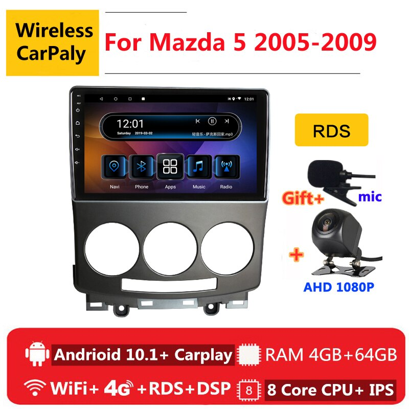 2 din 8 core android coche radio estéreo para coche para Mazda 5 2 CW 2005, 2006, 2007, 2008, 2009 navegación GPS DVD reproductor Multimedia