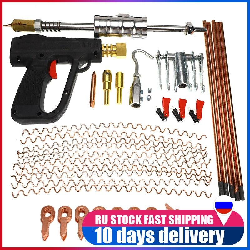 86 Uds coche cuerpo herramientas de reparación de Kit de reparación de abolladuras de soldadura soldador spotter arma eliminar Straightenging abolladuras removedor conjunto de dispositivos