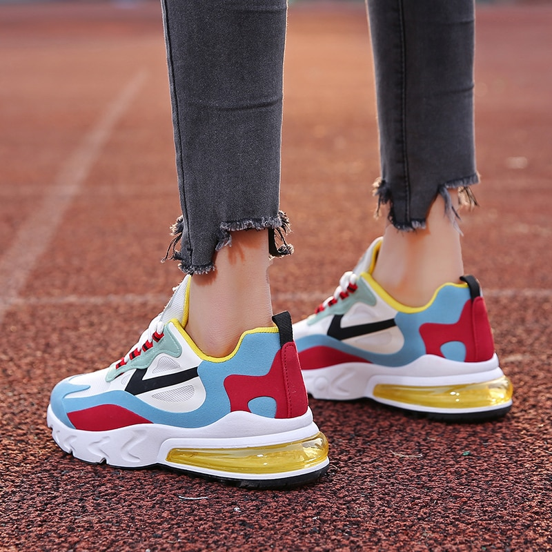 2020 zapatos de verano para Mujer, Zapatillas de malla, zapatos para caminar para niñas, zapatos de tacón alto, Tenis Masculino, Zapatillas para Mujer, calzado azul