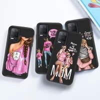 trend mom phone case for oppo r11s plus r9s r17 k3 r15 mirror r9 k1 cases soft tpu black silicone back cover painted bag funda