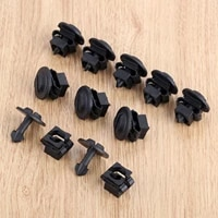 10set auto fastener clips under engine cover undertray fitting clip set fit for audi a4 a6 for volkswagen black