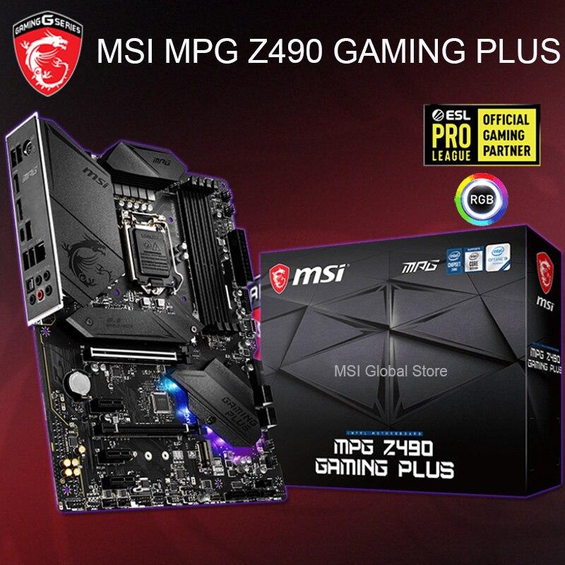 Lga 1200 msi mpg z490 gaming plus placa-mãe ddr4 4000mhz pci-e 3.0 m. 2 hdmi desktop msi z490 placa-m ães 1200 displayport atx