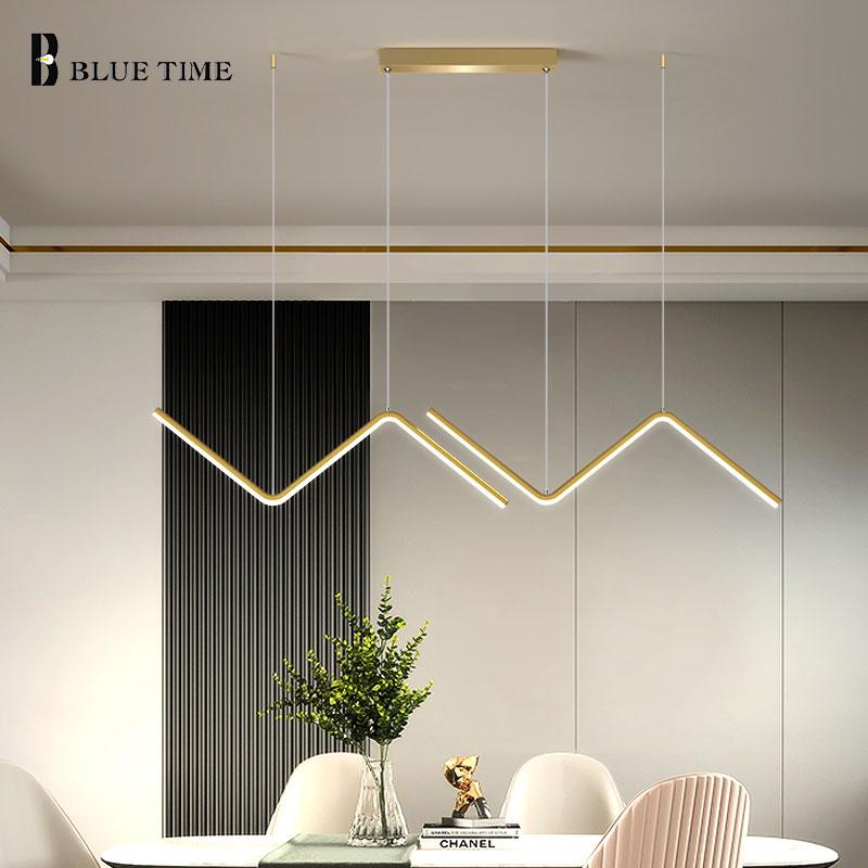 Modern Pendant Light For Bedroom Dining Room Living Room Restaurant Hanging Lamp Kitchen Chandelier Pendant Lamp Led Lustre 26W