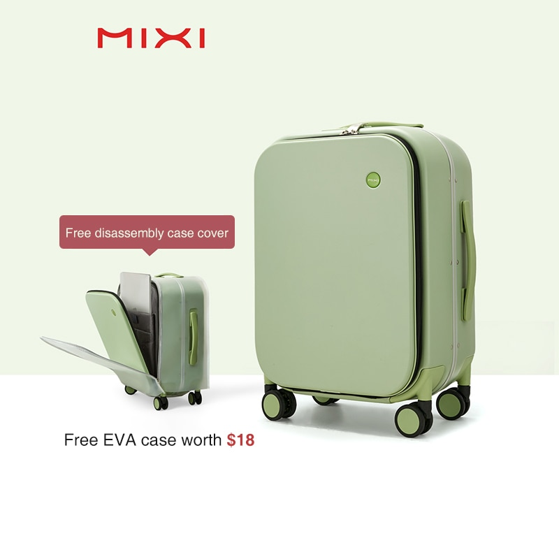 Mixi Brand Luxury Design Carry On Suitcase Polycarbonate Travel Rolling Luggage with 8 Spinner Wheels TSA Lock 18 20 Inch