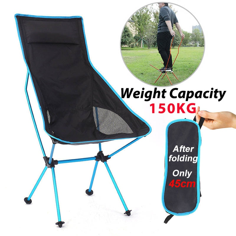 Outdoor Camping Chair Oxford Cloth Portable Folding Lengthen Camping Seat for Fishing Festival Picni