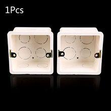 2020 Nieuwe 86X86 Pvc Junction Box Wall Mount Cassette Voor Schakelaar Socket Base Schakelaar Bodem Doos Elektrische Doos Accessoires