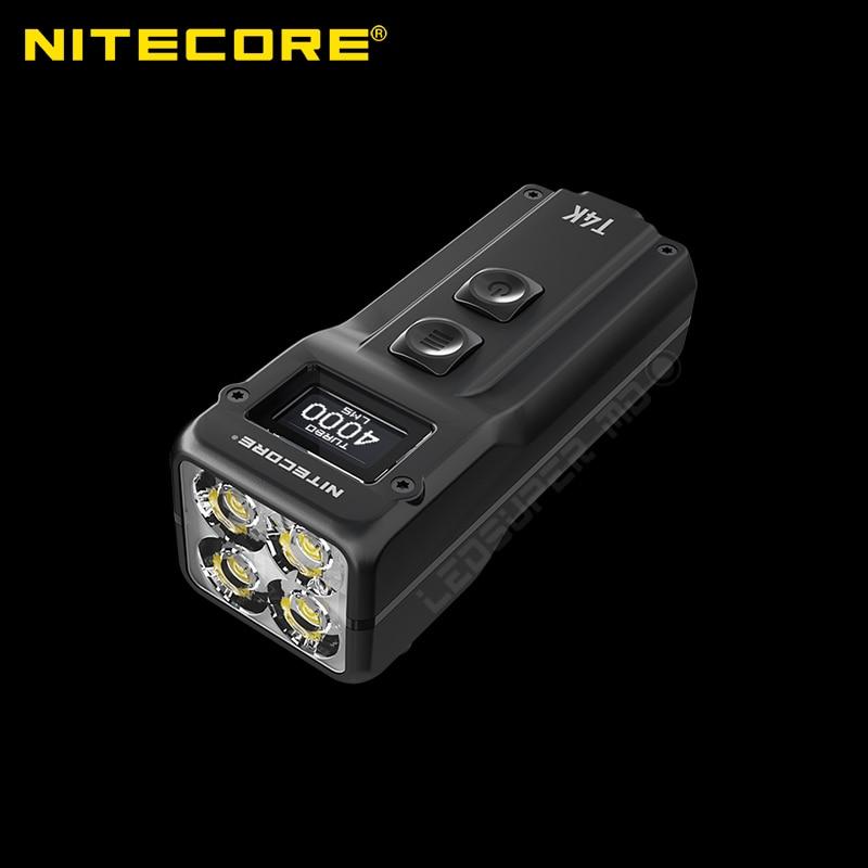 4000 Lumen Nitecore T4K Super Bright Keychain EDC Flashlight