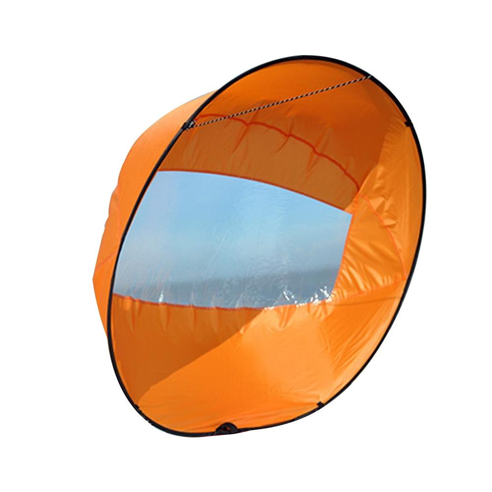 Canoa de viento duradera, deportes de agua seguros, Kayak de descenso, remo, ventana transparente, accesorios, fácil de usar, velero plegable