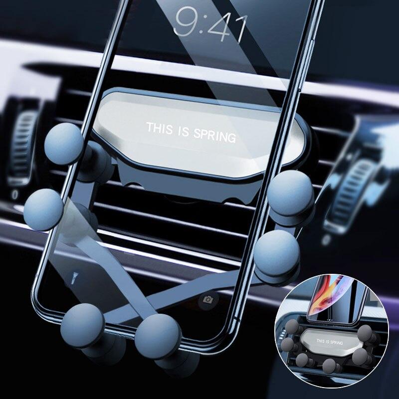 Gravidade Carro Titular Para O Telefone no Carro Air Vent Clip de Montagem Não Magnético GPS Suporte Do Telefone Móvel Suporte Para iPhone XS MAX Xiaomi
