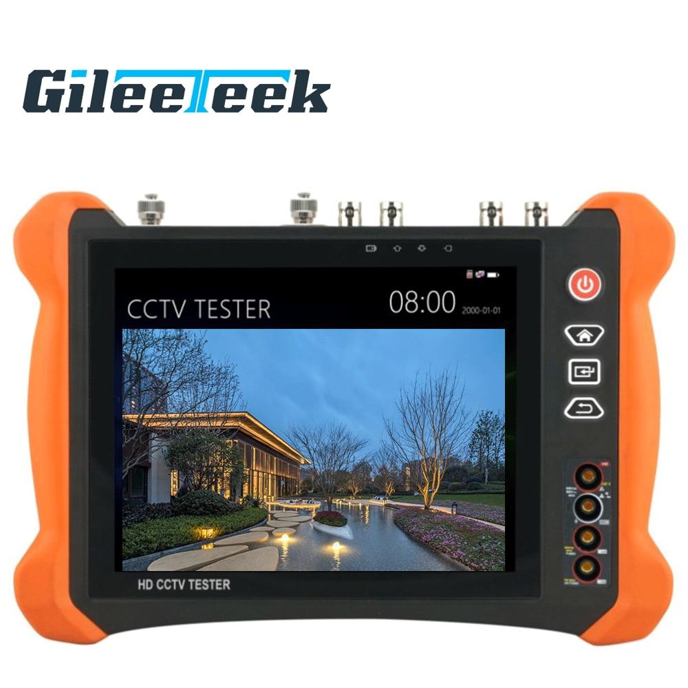 Professional CCTV Tester Tools Monitor with TDR X9 8inch H.265 4K 8MP 5MP AHD SDI CVBS CCTV Tester TVI CVI IP Camera Tester