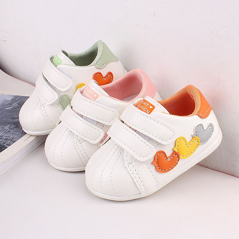 Spring Autumn Baby Sneakers Cartoon Comfortable and Wearable Baby Toddler Shoes Baotou Shoes  Newborn Cute Soft Cuffed Shoes