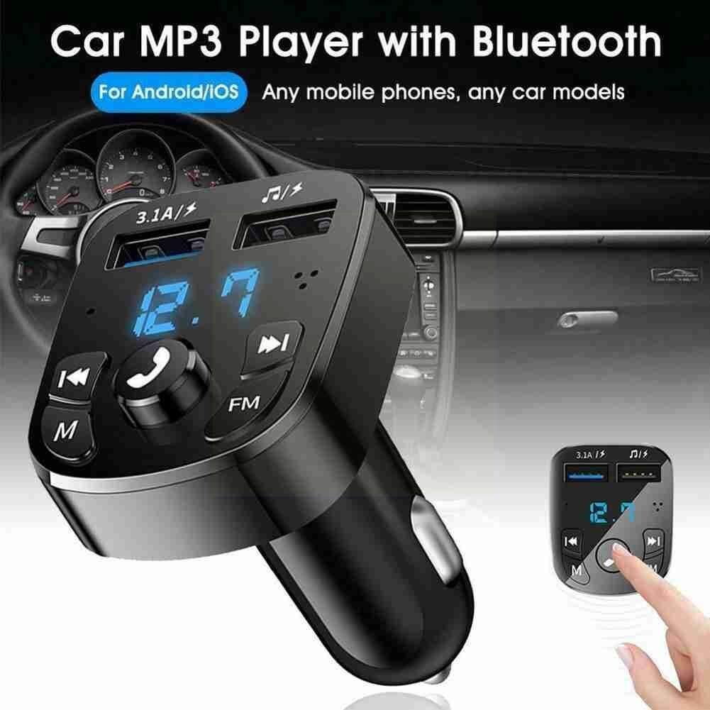 Bluetooth-совместимая Версия 5,0 FM-передатчик автомобильный двойной проигрыватель карт USB AUX комплект зарядное устройство с автомобильным входом...