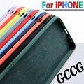 IPhone 7 6 6S 8 प्लस केस के लिए iPhone 11 12 प्रो X XR XS मैक्स शॉकप्रूफ फोन केस के लिए लक्जरी मूल तरल सिलिकॉन नरम कवर