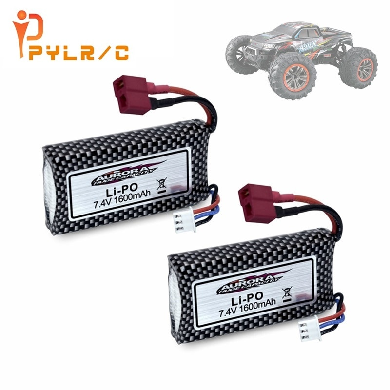 1-10Pcs Original battery For 9125 Remote Control Rc Car Spare Parts 7.4v 1600mah Lipo Battery XLH 91