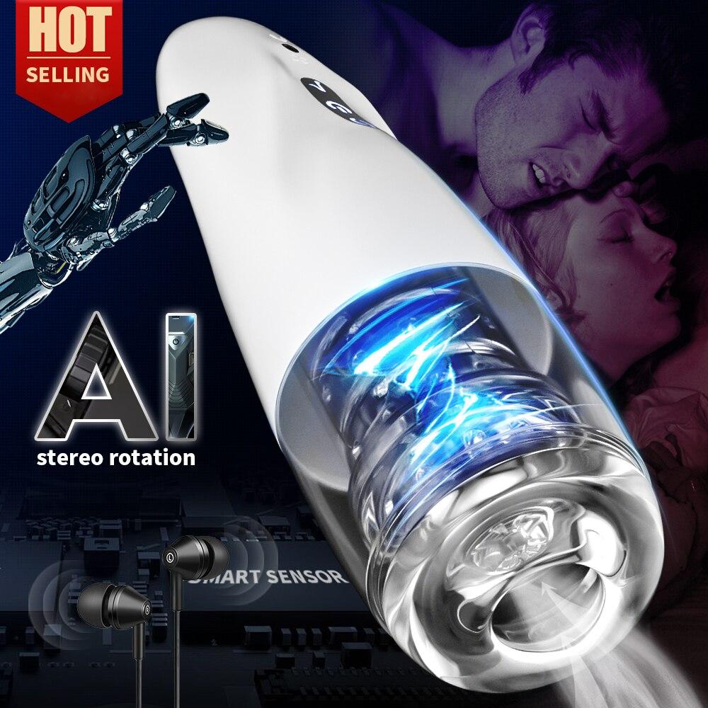 جهاز استمناء رجالي آلي قابل للتدوير مزود بكأس للاستمناء يعمل بدون استخدام الأيدي يتوفر به 10 ترددات قابلة للتعديل ألعاب جنسية للرجال