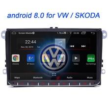 android 8.0 For VW Volkswagen Golf Polo Tiguan Passat b7 b6 SEAT leon Skoda yeti Octavia Car Multimedia player 2 Din Car radio