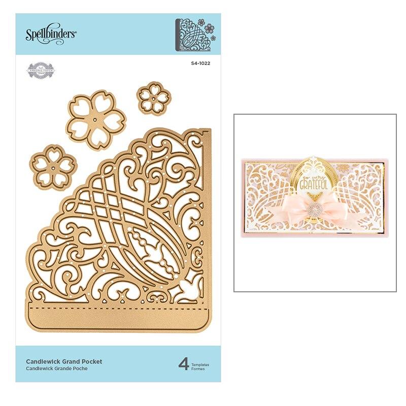 ¡Novedad de 2020! Moldes de hojas de flores con encaje, moldes de Metal para cortar, papel de aluminio y artesanías, álbumes de recortes para hacer tarjetas sin sellos