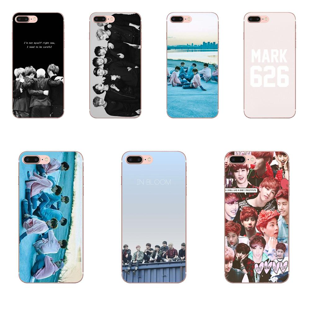 Caso Capa mole Got7 Kpop Coréia Boy Girl Band Para Samsung Galaxy S3 S4 S5 Mini S6 S7 S8 Borda além de S9 S10 S20 Plus