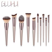 Wooden Make Up Brush Set Foundation Cosmetic Eyebrow Eyeshadow Brush Makeup Brush Sets Tools Maquiag