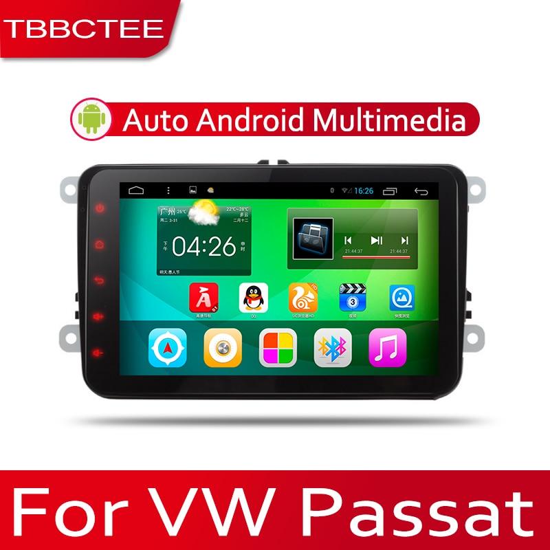 TBBCTEE sistema Android para coche 1080P IPS pantalla LCD para Volkswagen VW Passat 2005-2010 reproductor de Radio para coche navegación GPS BT WiFi AUX