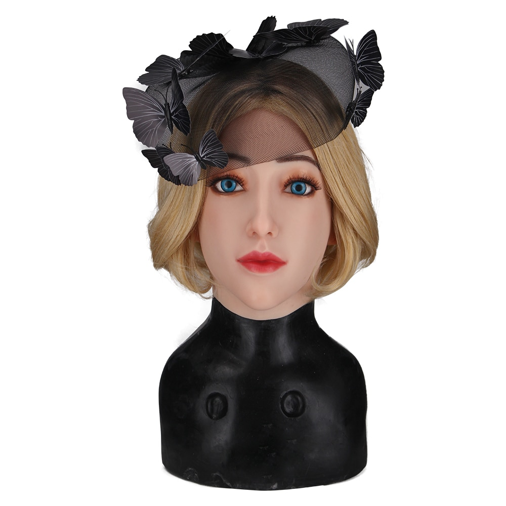 For Halloween Gifts 3G New Alice Realistic Face Mask Soft Silicone Female Head Masquerade Crossdresser Drag Queen Transgender