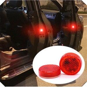 2x светодиодный двери автомобиля Аварийные огни аксессуары Стикеры для Renault Koleos, Clio Scenic Megane Duster Sandero Captur Twingo