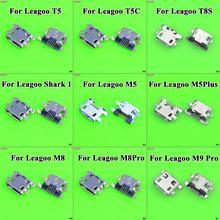 5pcs For Leagoo T5 T5C M5 M5 Plus M8 M9 Pro Shark 1 S8 Power Charging Port Replacement Jack Socket Plug Connector Mini Micro USB