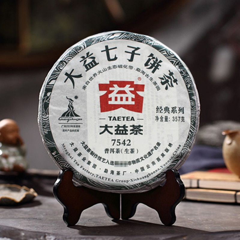 2010 TAETEA 7542 شين بو 'Er الشاي الصيني Dayi الخام بولي ''er الشاي الصيني 357g