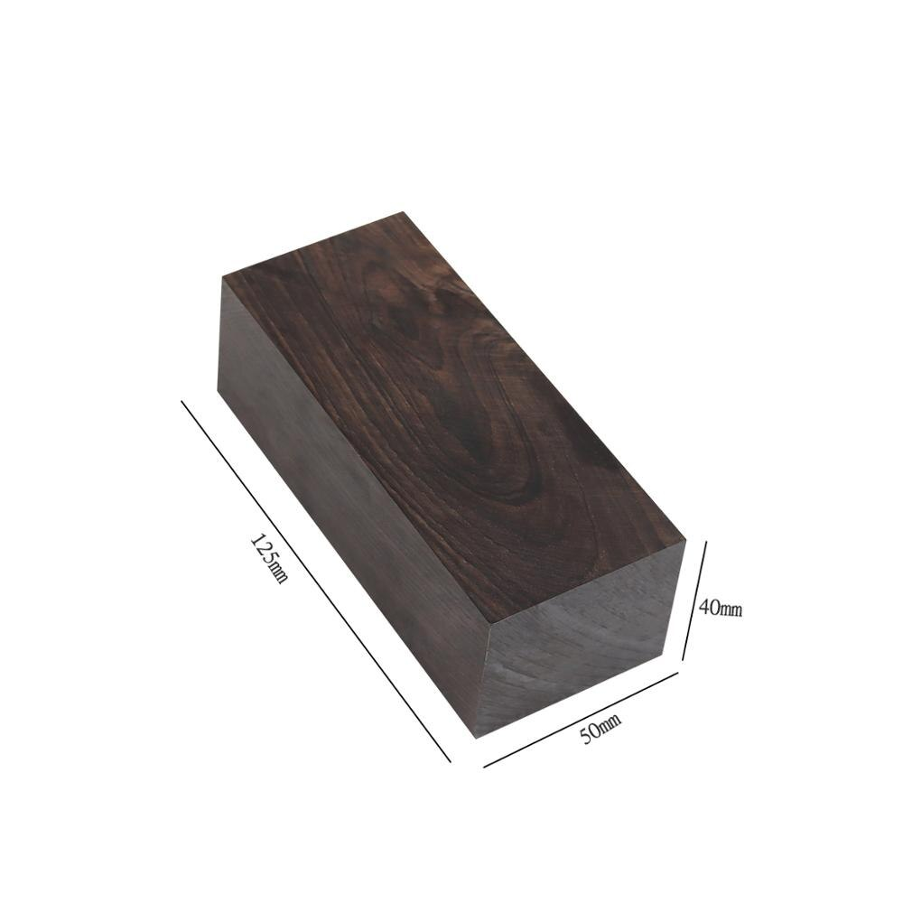 120x40x50mm African Ebony Lumber Blanks Carving Blocks Timber Handicraft Hobby Wood Handle Musical Instrument DIY Tool enlarge