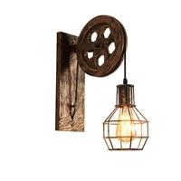 Retro Vintage applique murale industrielle applique abat-jour luminaire fer Loft cafe barre reglable applique lumieres Wandlamp decoration LED
