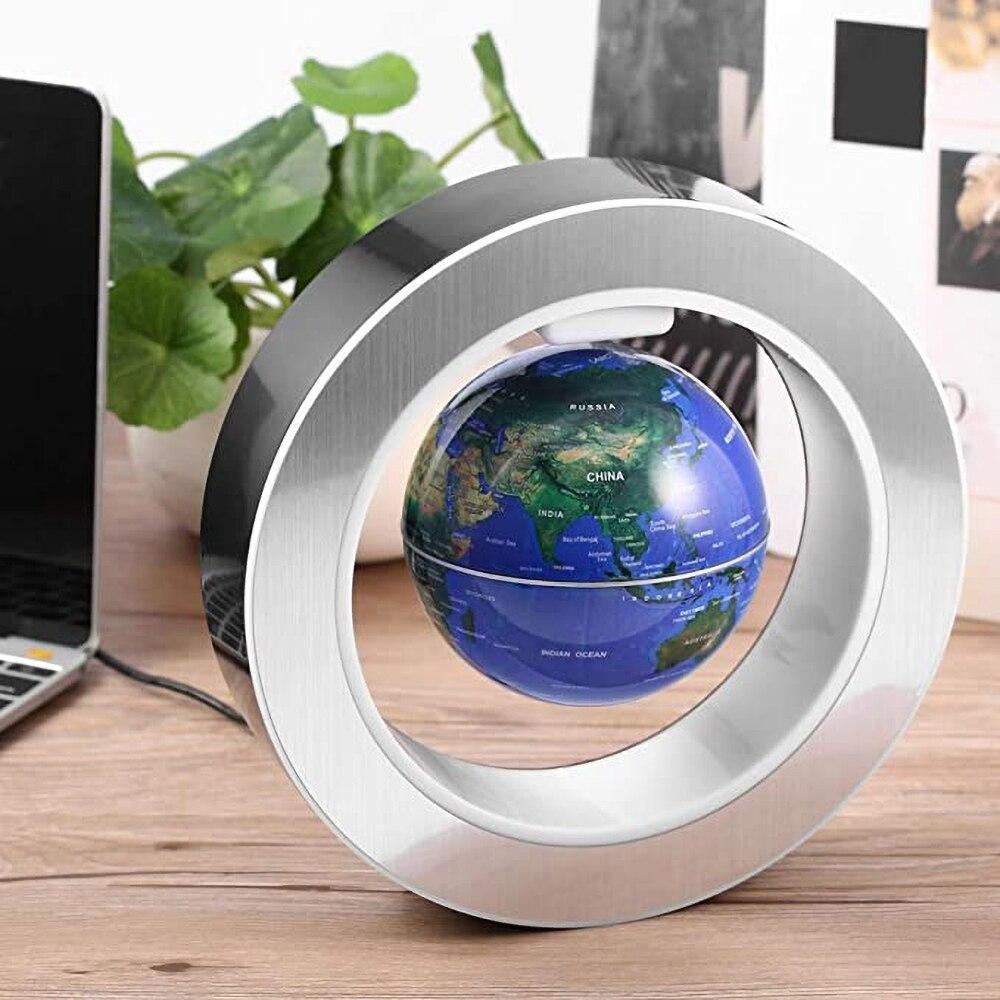World Map Electronic Antigravity Lamp Floating Magnetic Levitation Globe LED 6 Inch enlarge