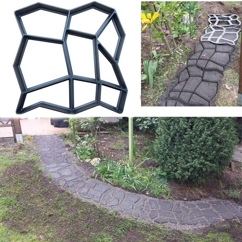 Cortador de carga, máquina de molde de camino de corte para decoración de jardín para el hogar, herramientas de molde para caminar pavimentadora de piedra de diseño de hormigón reutilizable