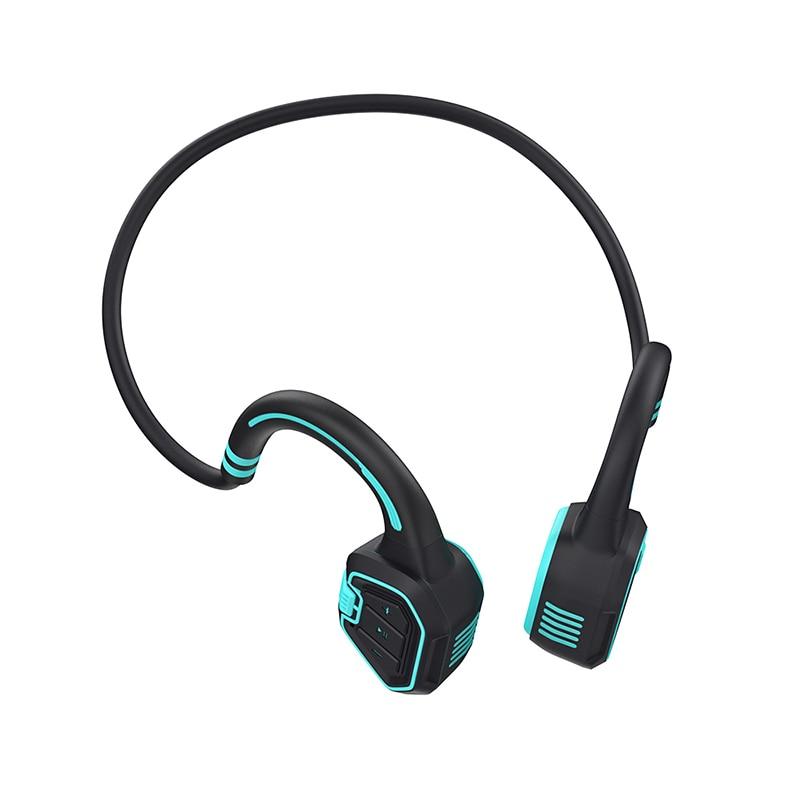 Real Bone Conduction Headphone IP68 Waterproof Wireless Bluetooth Earphone 16G Memory MP3 Music Player Swimming Sports Headset enlarge